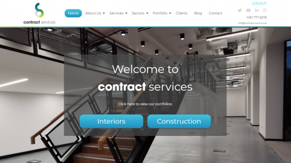 Contract Services website
