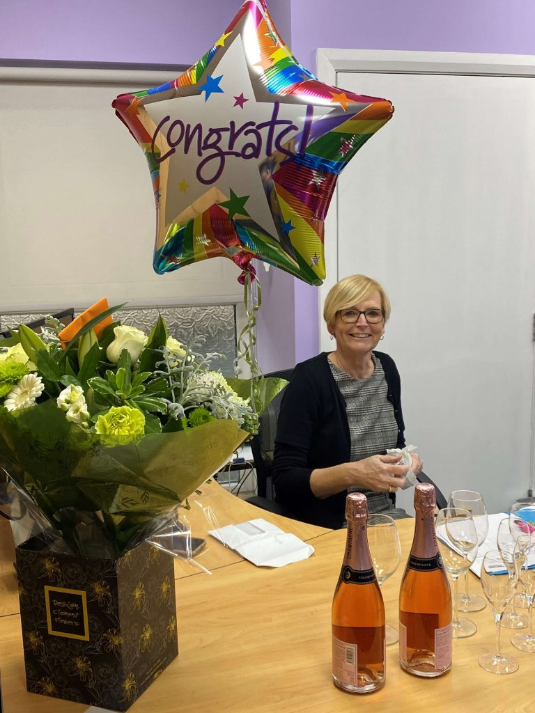 Linda Starling Contract Services celebrating 25 years at the business.